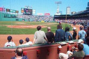 JBE sings the National Anthem at Fenway Park