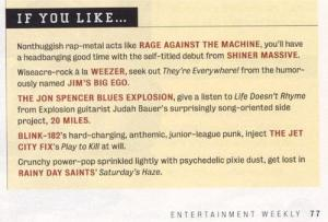 JBE mentioned in Entertainment Weekly